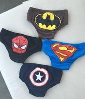 Wholesale Swimsuits For Baby Cartoons - Boy Girl Swimming Trunks Children Baby Swimsuit For Kids Cartoon Captain America bats Spiderman Superman Panties Lovely Summer Bathing wear