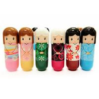 Wholesale Wholesale Cute Dolls - Cute Japanese Doll Clear Moisturizing Repair Lip Balm Lip Protector Lipstick