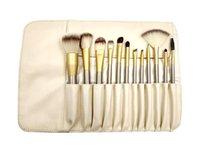 Wholesale Makeup Brush 18 - 12 18 24pcs Professional Makeup Brushes Set Kit Woman's Foundation Powder Eyeliner Lip Brush Beauty Tools Powder Brush + Leather Case