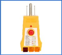 Wholesale Safety Sockets - top quality LED Socket Safety Tester WH305 220V US plug socket socket insulation leakage testing socket wiring judgment meter