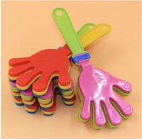пластиковые хлопки оптовых-Колотушка пластик рука хлопать игрушка развеселить ведущих хлопать для Олимпийские игры футбольный матч шумелка детские малыш Pet игрушка