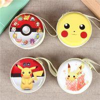 Wholesale Original Pokemon - 4 Style Poke Earphone Bag Original Pikachu Mini Zipper Coin Purse Headphone Box SD Hold Case Charger Line Bag F700