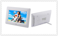 Wholesale Tft Wide - Free shipping Digital Photo Frames 7inch TFT LCD Wide Screen Desktop Digital Photo Frame glass Photo Frame