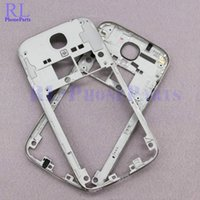 Wholesale Galaxy Volume Button - DHL 100pcs lot OEM Middle Plate Frame Bezel housing with volume and Power button for Samsung Galaxy S4 I545 L720 R970