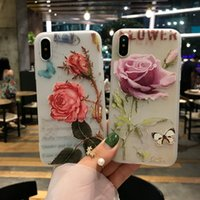 Wholesale Iphone Cases For Girls 3d - Phone Cases For iPhone X 8 7 6 6S Plus Case 3D Relief Flower Floral Cartoon Girl Soft Silicone TPU Back Cover For iPhone X Case
