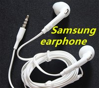 Wholesale Dj Headphones Promotion - Promotion Top Quality White 3.5MM In-Ear Music Headset DJ Headphones With Mic Universal Earphone For Samsung S6 i9800 S6Edge S4 S5