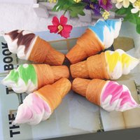 Wholesale Food Modelling - Soft Simulation Squishy 10cm Torch Ice Cream Toys PU Cake Model Squishies Food Toy For Cupboard Decoration Slow Rebound Pendants Gifts