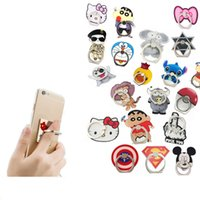 Wholesale Dhl Cheap Cell Phone - Cellphone Ring Stand Cartoon Pattern Phone Mounts Holders Creative Cartoon Character Cell Phone Accessories Cheap Factory Free DHL 365