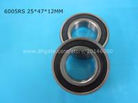 Wholesale 12mm Ball Bearings - 6005RS 1Piece bearing metal sealing bearings chrome steel deep groove bearing 6005 6005RS 25*47*12mm free shipping