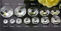 Wholesale Bead 26mm - grade AAA Quality Transparent 24mm 26mm 28mm 30mm Glass Crystal Octagon Beads With 2 Holes Free shipping
