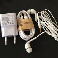 Wholesale Earphones S4 - Wholesale-5V 2A EU Wall Charger + MICRO USB charger Cable + mic earphone For Samsung Galaxy S4 I9500 S3 I9300 Note2 N7100