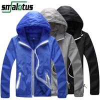 Wholesale Bike Sports Jacket - Wholesale-Men Women Anti-UV Reflective Cycling Jacket Outdoor Sport Running Camping Hiking Double Layer Skin Coat Bike Bicycle Windbreaker