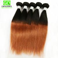 Wholesale Brazilian Cuticle Hair - 3 Bundle Deals Ombre Hair Silky Straight Brazilian Ombre Hair Full Cuticle Ombre Straight Hair Wefts Brazilian Straight Human Hair Weave