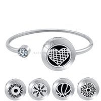 20mm Love Heart Magnetic Can Wiggle Up and Down Aroma Locket из нержавеющей стали Bangle Essential Oils Диффузор Locket Bracelet (Dropship)