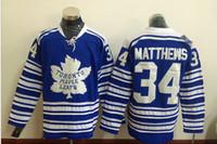 transporte dos jérseis do nhl venda por atacado-2016 New Hot Men Toronto? Maple folheia 34 Matthews 17 CLARK 93 Gilmour Azul Novo Hóquei No Gelo Jerseys NHL Costurado Jerseys Livre Drop Shipping Mi