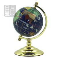 Wholesale Bow gold furnishing articles gem globe office desk Paper crafts Business gifts