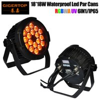 Wholesale Dj Light Stands - TIPTOP Stage Light 18x18W Mini Flat Waterproof Led Par Cans DJ Stage Light Equipment Floor Stand Hanging Bracket PWM dimming Curce