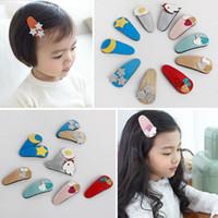 Wholesale Cute Kid Hair Claw Clips - 2016 Baby Girls Hair Clips Cute Sequin Heart Hairpin Cartoon Elephant Barrettes for Kids 20pcs lot