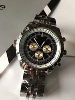 Wholesale Digital Watc - AAA luxury men's watches mechanical automatic watch high class stainless steel chronograph watch men's navitimer A35340 luminous watc
