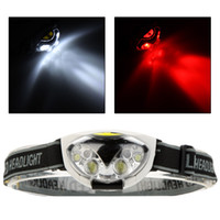 Wholesale xm l2 - Water Resistant 1200 Lumens 6 LED Headlight 3 Modes Outdoor Headlamp Head Light for Camping Hiking Cycling