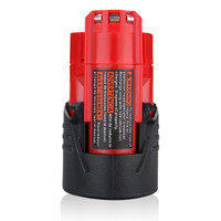 Wholesale Milwaukee 48 - atteries Rechargeable Batteries 2.0Ah 12v 12 Vlot M12 Li-ion Cordless Power Tools Battery for Milwaukee 48-11-2401 48-11-2402 48-11-2411 ...