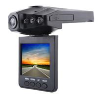 camaras rotativas al por mayor-Envío gratis Coche DVR cámara grabadora H98 6 IR LED de montaje y ángulo de visión de 90 grados, pantalla de 270 grados girada Envío de la gota