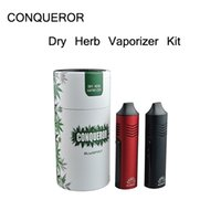 Wholesale E Cigarettes Charging Vape - Top quality Conqueror Dry Herb Vaporizer Starter Kit Vape pen E cigarette 2200mah battery capacity With OLED Display USB Charging Dry Herb