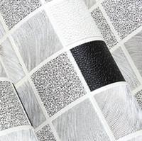 Wholesale Moisture Cover - Wholesale- mosaic designs waterproof pvc bathroom wallpaper deep embossed pvc wall covering
