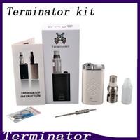 ingrosso terminatore di avviamento-Terminator Box Mod Starter Kit Terminator Mods Bottom Feeder 18650 Batteria 510 Pulsante accensione filo Vs Lucifer Box Mod Kbox 120W 0211199-1
