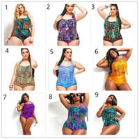 neue heiße frauen bikini großhandel-Der neue Badeanzug Bikini Quaste der europäischen und amerikanischen fetten Frau der hohen Taille reizvolle Badebekleidungsklage plus Düngemittel XL DFMBK147 heiße Verkaufsbadeanzüge
