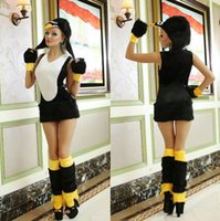 Costumi Cosplay Animal all'ingrosso-Best Sexy venditore Penguin Halloween sexy Nightclub tentazione uniforme Déguisement Adultes CE238