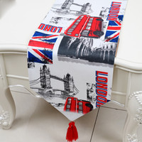 Wholesale Country Coffee Tables - Latest European American style Country Table Runner Cotton Modern Coffee Table Cloth Rectangle Dining Room Table Protective Mats 200x33 cm