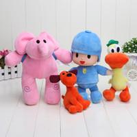 Wholesale Elly Doll - 4pcs set 14-30cm Pocoyo Elly & Pato & POCOYO & Loula Stuffed doll Plush Toys Good Gift For Children gift kids toys