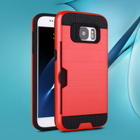 Wholesale s3 case card holder for sale - Group buy Lars Mars Case Hybrid Defender Armor Cases with Card Holder for Samsung Galaxy S7 Edge S7 S9 Plus S6 Edge Plus S5 S4 S3