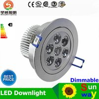 Wholesale 21w Led Yellow - led recessed lights csa 36W 21W 15W 12W 9W CREE Led Ceiling Lights Resessed Lamp Dimmable Led Down Lights Warm Pure Cold White