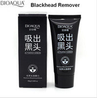Wholesale BIOAQUA Pore Cleaner Acne Treatment Black Mud Mask Blackhead Remover Cleaner Shrink Pore Peel Tearing Style Blackhead Facial Mask