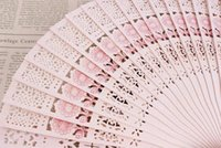 Wholesale Hand Hold Fans - Hot Chinese Aromatic Wood Pocket Folding Hand Held Fans Elegent Home Decor Party Favors