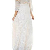 Wholesale Drop Waist Dress L - S5Q Women's Vintage Chiffon Pleated Loose Long Dress Elastic High Waist Skirts AAAFVN