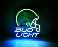 Bud Helmet Neon Signs Light Decorated for Bar Room Luci da gioco Windows Garage Wall Signs (Blu)