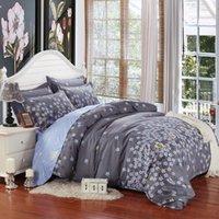 Wholesale Aqua Print Comforter - Free shipping 4pcs lot 100% cotton home textiles high quality 4pcs flower printed bedding set with multi-colors