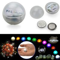 ingrosso luci fiabe galleggianti-Hotselling 12 pz / set Fairy Pearls a batteria Mini scintillio LED Light Berries 2 CM galleggiante LED palla per eventi festa di nozze Decorazione