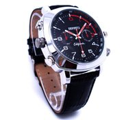 Wholesale Spy Watches 4gb - waterproof HD Watch DVR SPY Watch Camera Video Recorder Wrist Watch Covert DVR 4GB 8GB 16B leather watch mini Camcorder in retail box
