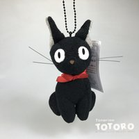 Wholesale Hot Baby Delivery - Hot Sale 3pcs Lot 15cm Kiki's Delivery Service Black Cat Keychain Pendant Plush Doll Stuffed Animals Toy For Baby Gifts