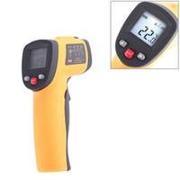 arma de contato venda por atacado-Instrumentos de temperatura sem contato originais 2016 IR Infravermelho de alta precisão Handheld Termômetro com laser arma tela LCD