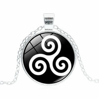 Wholesale teen wolf allison pendant resale online - Factory price Teen Wolf necklace Triskele Triskelion Allison Argent Necklaces Pendants handmade