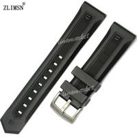 ingrosso fibbie fornitori-Orologio in silicone nero BAND ZLIMSN Fornitore di fibbia professionale di alta qualità 22mm Cinturino in argento nero