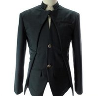 Wholesale White Collar Suit Designer - Men's designer Fashion Dress Suits Men Blazers Slim Casual white black Jacket Autumn White Wedding Blazers Mens clothing