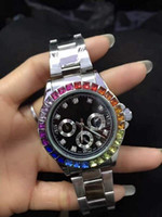ingrosso decorazione di affari-Decorazione di lusso 3 piccoli diamanti relogio masculino donne simulazione orologio sportivo mostra la data del quarzo da uomo d'affari orologio da uomo