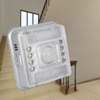 Wholesale Wireless Outdoor Infrared Detector - Wireless Infrared 8 LED Motion Sensor Wall Light Wireless Infrared Home Indoor Outdoor PIR Auto Sensor Motion Detector LED Light Lamp