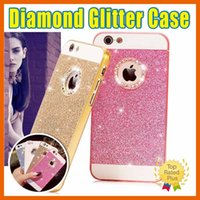Wholesale Diamond Case For Blackberry - For iPhone 6 Rhinestone cases iPhone 7 5 5s SE 6 6S Plus Luxury 3D Bling Glitter Crystal Diamond Hard Case Cover